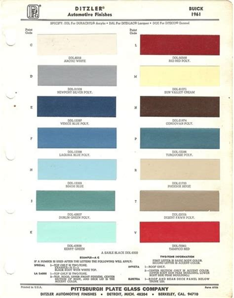 1961 buick auto line paint chips ditzler ppg http www ebay sch i html nkw auto paint