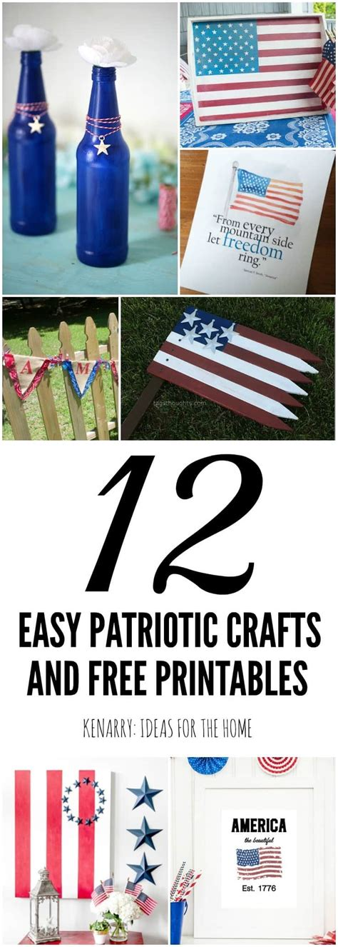 easy labor day crafts for patriotic decor ideas 12 easy crafts and free printables