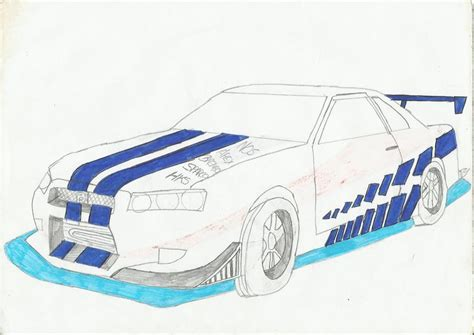 nissan skyline drawing 2 fast 2 furious fast and furious cars drawings www pixshark com images