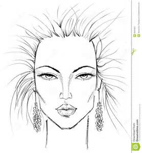 Line Drawing Templates by Makeup Template Stock Photography Image 8043452