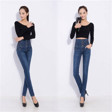 are colored skinny jeans in style 2015 womens pants jeans 2015 new high waist skinny jeans women