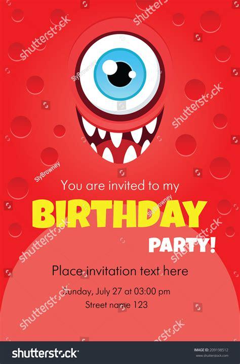 sle invitation card for birthday vector birthday invitation card stock vector 209198512