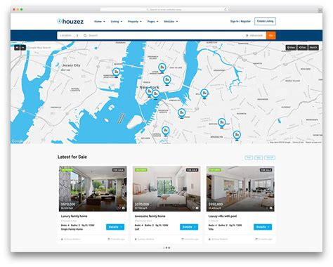 real estate property listing template 40 best real estate themes for agencies