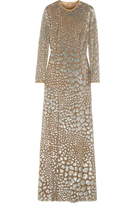 Marks Spencers Padstow Princess Collection Has Us Sold by Lyst Michael Kors Sequin Embellished Tulle Gown In Metallic