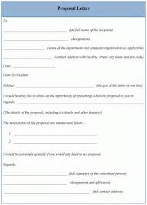 letter template for proposal sample of proposal letter