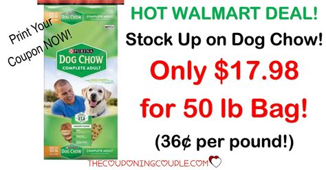 purina puppy chow coupons awesome deal purina chow 50 lb for 17 98