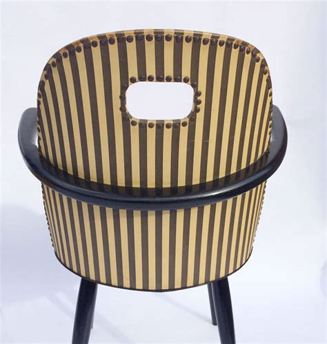 striped armchairs mid century black and white striped armchairs galleria62