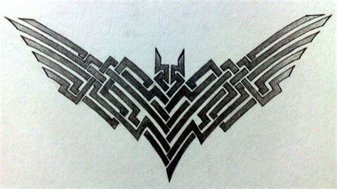 tattoo batman tribal batman tattoo by grimshady on deviantart