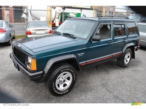 green jeep cherokee 1996 bright jade green jeep cherokee sport 4wd 57877190