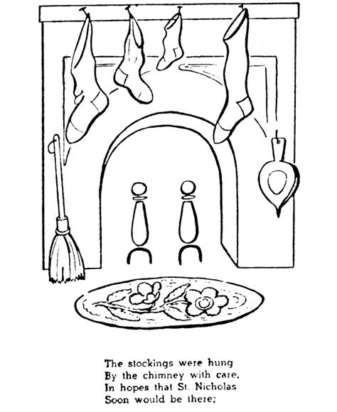 christmas chimneys coloring pages   print