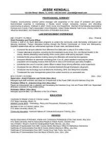 Enforcement Cover Letter Exles by Chief Probation Officer Resume Sales Officer Lewesmr