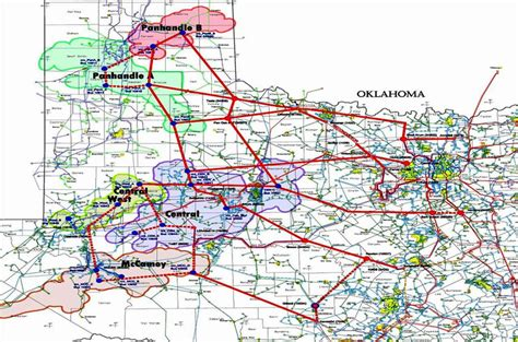 texas transmission lines map the texas crez transmission system source ercot solid lines indicate