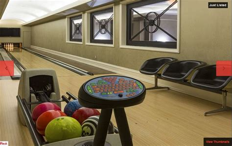 basement bowling alley rooms bars etc