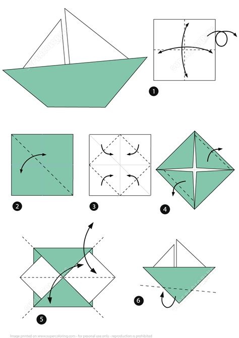 origami little boat instructions free printable - Origami Little Boat