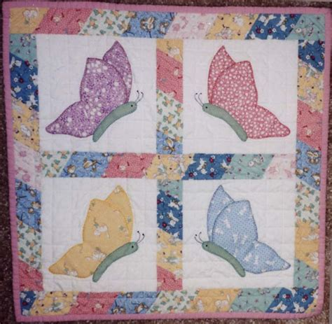 Free Patchwork Quilt Patterns - butterfly applique quilt blocks how to applique