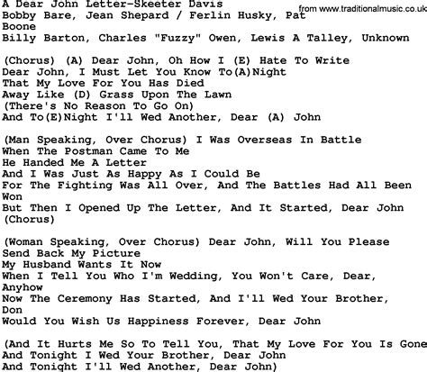 letter song lyrics country song lyrics quotes quotesgram