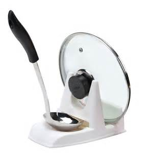 Kitchen Pot Stand Spoon Pot Lid Shelf Cooking Storage Kitchen Decor Tool