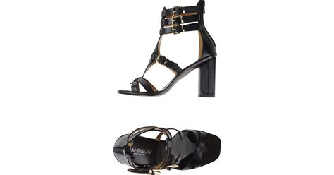Humm3r Napoleon Black Heels Sole napoleoni sandals in black lyst