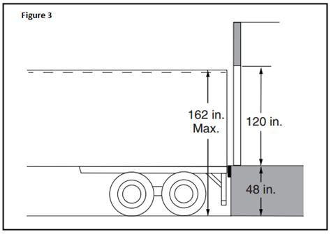 boat dock height design the loading dock determine door sizes