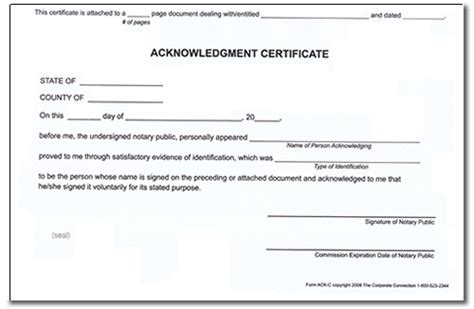 Certificate Acknowledgement Letter Best Photos Of Printable Notary Acknowledgement Florida Sle Of Notary Acknowledgement Form