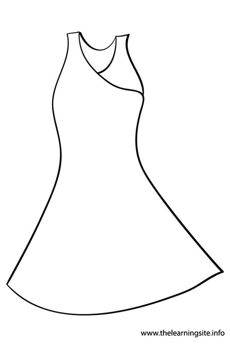coloring page of a dress free coloring pages of dress clothing