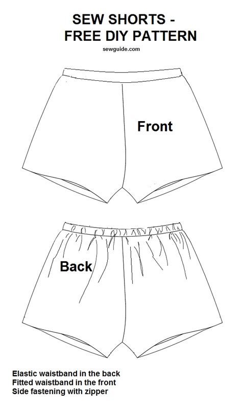pattern drafting of short pants how to sew shorts 3 free diy patterns sewing tutorials