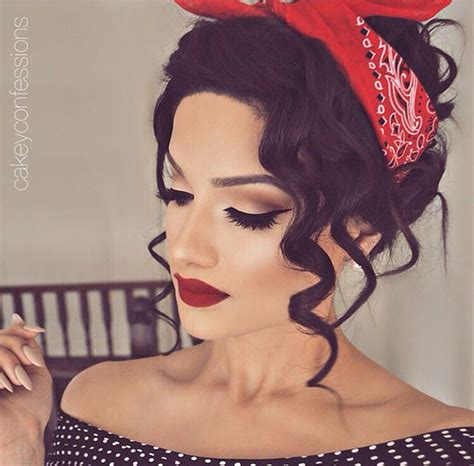pin up hairstyles for black women with long hair pinup makeup vanababy23 wedding things pinterest