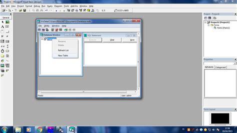 membuat database dengan visual basic 6 cara membuat database di visual basic 6 0 dengan visual