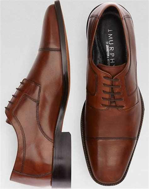 j murphy by johnston murphy novick brown cap toe lace