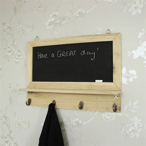 Chalkboard With Hooks For Kitchen by Wall Mounted Chalkboard With Hooks Melody Maison 174