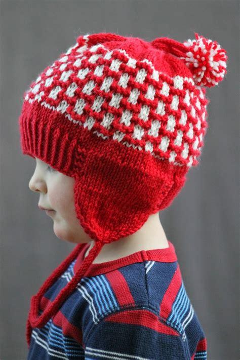 loom knit earflap hat pattern pom pom earflap hat allfreeknitting