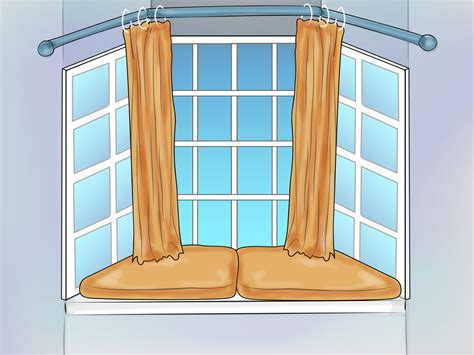 how to dress windows how to dress a bay window 6 steps with pictures wikihow
