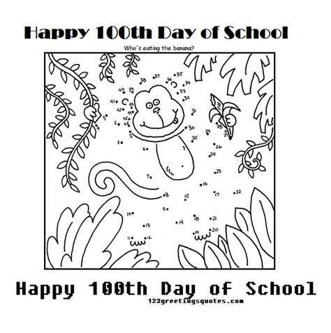 free coloring pages of happy 100th day of school