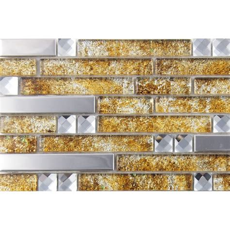 metal and glass silver stainless steel backsplash