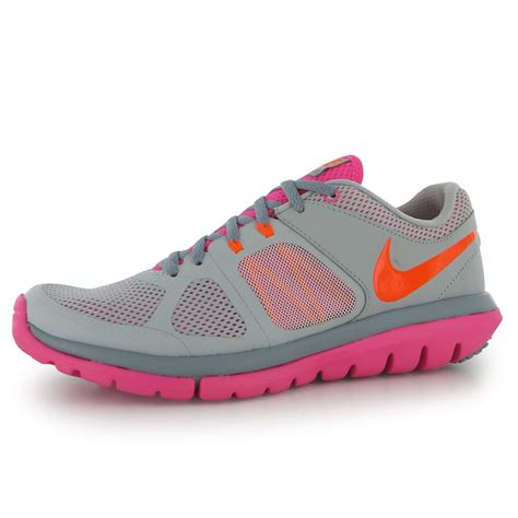 nike flex 2014 running shoes nike flex run 2014 womens running shoes trainers grey pink