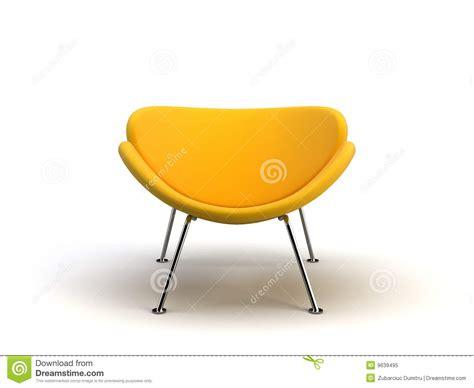 gelber breiiger stuhl gelber moderner stuhl stock abbildung illustration
