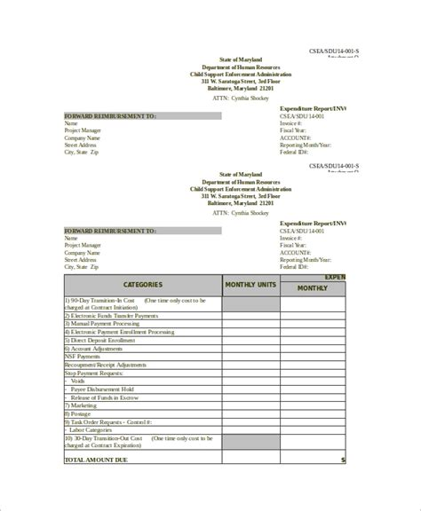 10 Excel Invoice Templates Sle Templates Weekly Invoice Template