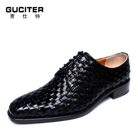 2015 new s woven leather shoes business goodyear