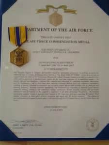 Air Commendation Medal Template by Steve Sizemore S Weblog Work Archives