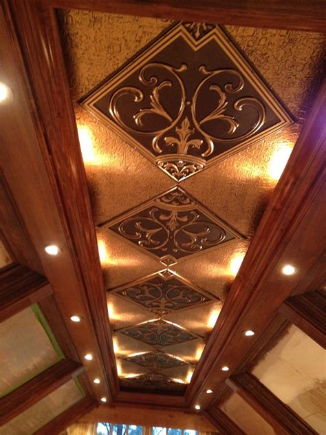Faux Ceilings by Faux Tin Ceiling Tiles Spaces With Ceiling Chandelier