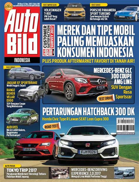 Auto Bild 377 Majalah Otomotif jual majalah auto bild ed 381 november 2017 scoop indonesia