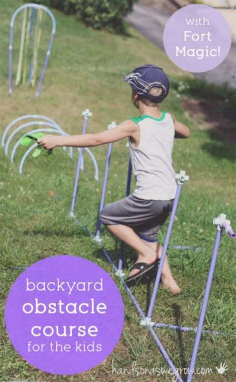backyard obstacle course for kids fort magic obstacle course for kids in the backyard