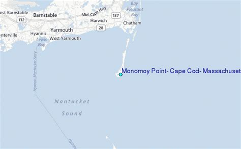 where is cape cod located on a map monomoy point cape cod massachusetts tide station