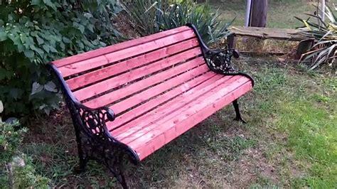 restore cast iron bench wheel horse a90 restoration restoring a cast iron garden