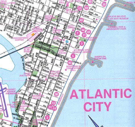 atlantic city map atlantic city map