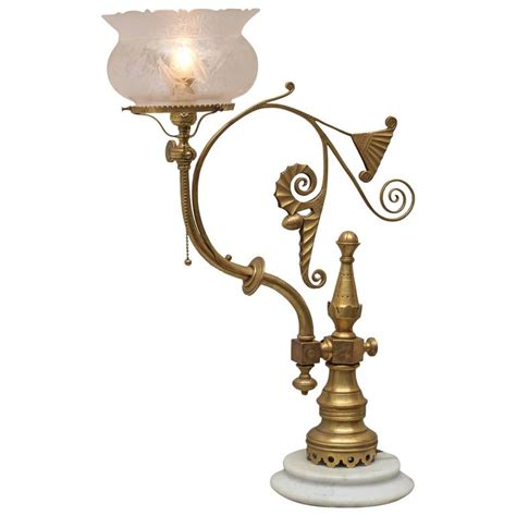 Rococo Crystal Chandelier Aesthetic Victorian Converted Gas Newell Post Lamp At 1stdibs