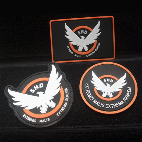 Patch Rubber Patch Korpolairud Pol Air Higt Quality airsoft pvc patch ᓂ the the division shd wings wings out badge morale