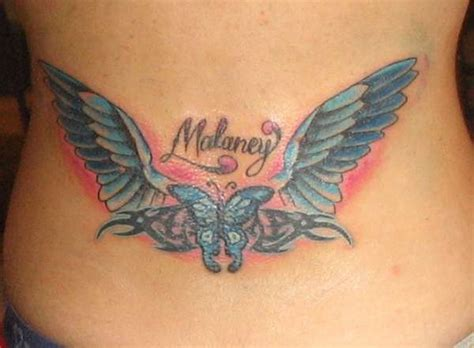 tattoo angel wings and name 35 cool angel wing tattoos desiznworld