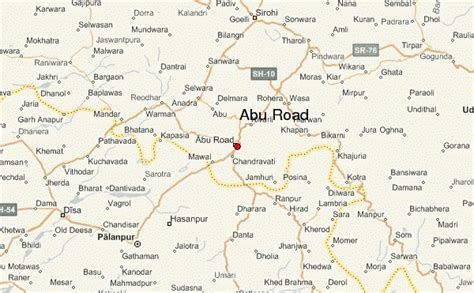 location road map abu road location guide