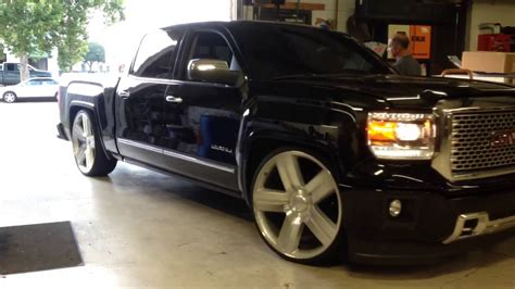 Lowered GMC Denali on 26s   YouTube